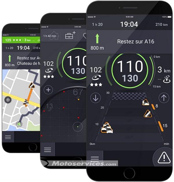 le nouvel icoyote ajoute la navigation et le trafic en temps r el scooter dz. Black Bedroom Furniture Sets. Home Design Ideas