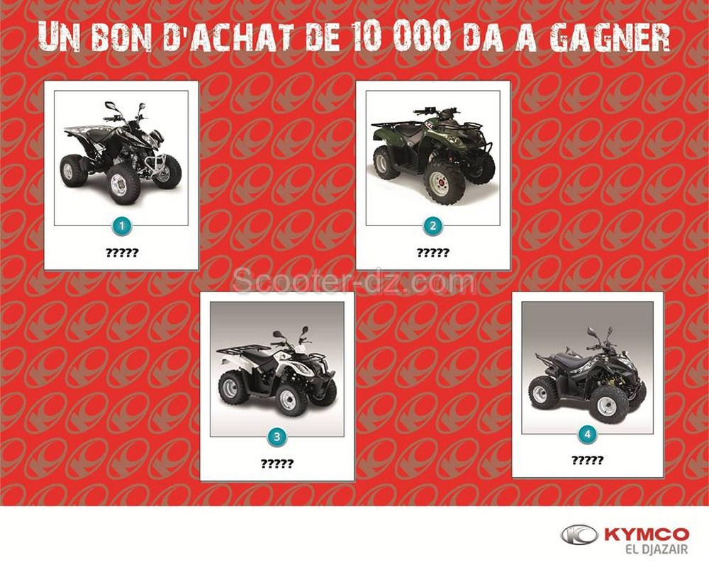 gagnez un bon d achat de dinars avec kymco alg rie moto dz. Black Bedroom Furniture Sets. Home Design Ideas