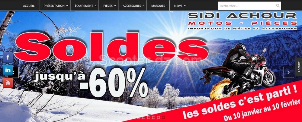 Soldes sur SidiAchour-Motospieces.com, jusqu'à - 60% de remise