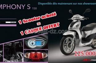 SYM Algérie : disponibilité du scooter SYM Symphony S150