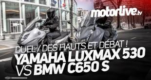 Des Hauts et Débat   Yamaha T-Max 530 LuxMax vs BMW C 650 Sport : la vidéo est en ligne