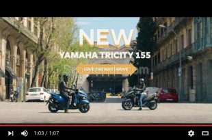 Vidéo : scooter 3 roues Yamaha Tricity 155