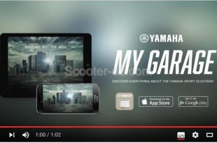Yamaha lance son appli : My Garage Sport Scooter App