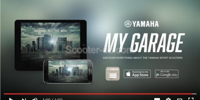 Yamaha lance son appli my garage sport scooter app for Garage yamaha scooter