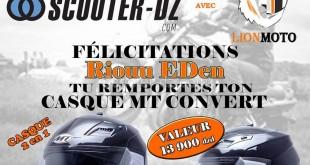 """Résultat du """"Jeu Concours - été 2016"""" Scooter-dz & Lion Moto"""