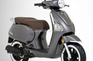 VMS lance un scooter néo-rétro, le VMS Estate 125 marron
