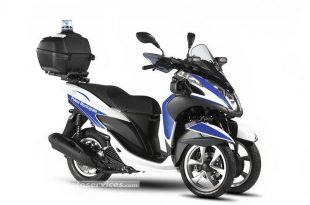 Des Yamaha Tricity 125 Police pour les forces de l'ordre