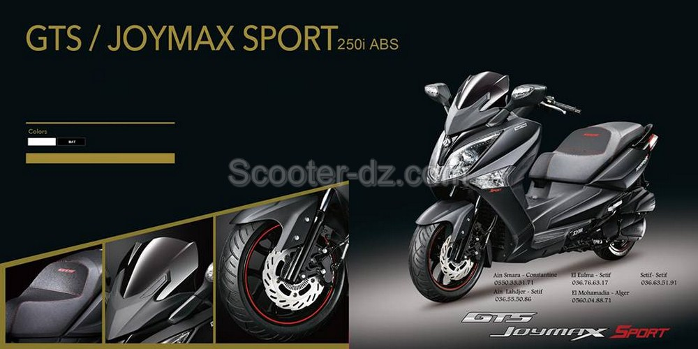 Sym Algérie : GTS Joymax 250 i ABS is back