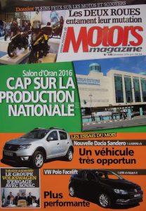"""Motors Magazine titre : """"Les 2 roues entament leur mutation"""""""