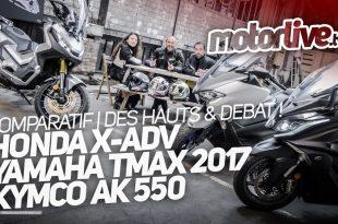 Comparo Kymco AK 550 - Honda X-ADV - Yamaha Tmax