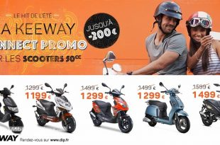 Keeway Connects : promo sur les scooters 50
