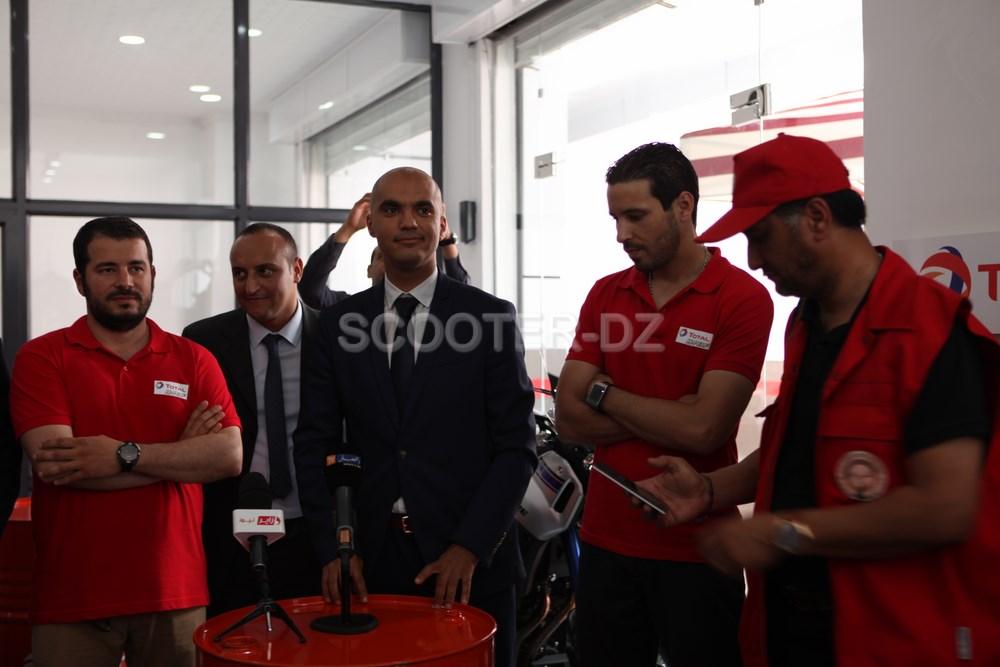 """Inauguration du 1er centre d'entretien """"MotoZone Total"""" à Alger"""