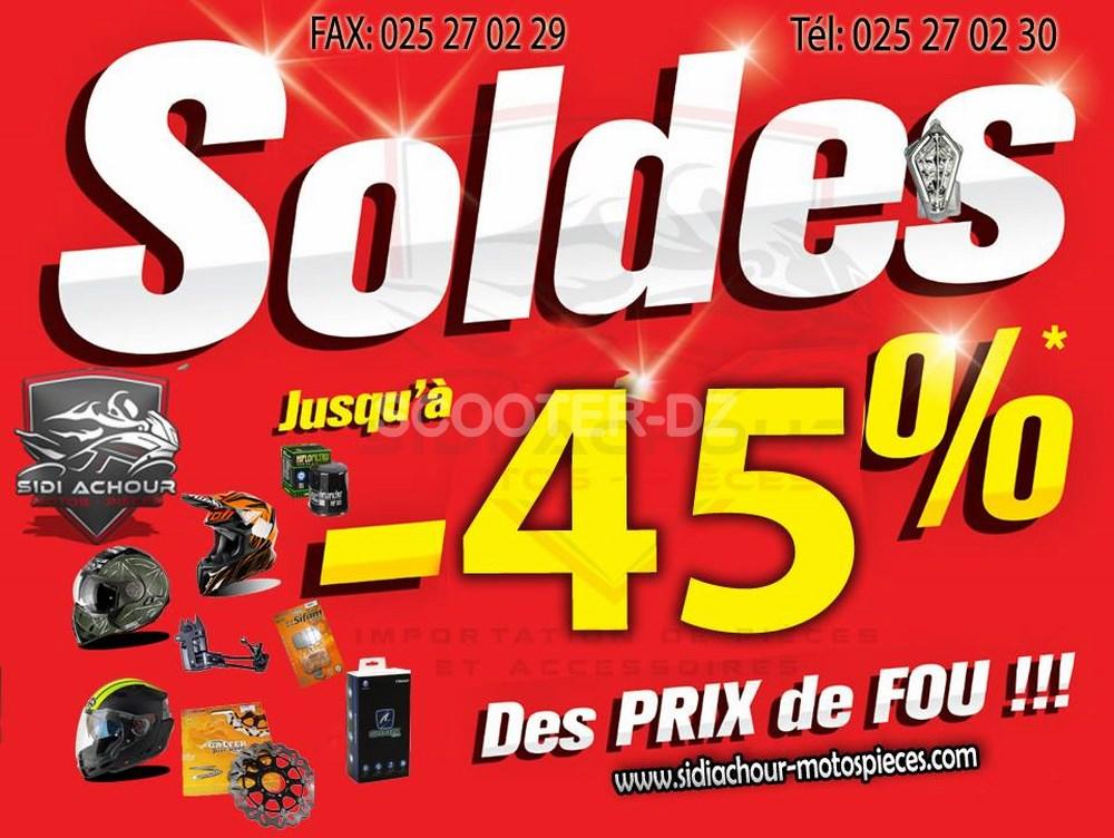 Sidi Achour Motos Pièces : Soldes 2018 avec jusqu'à - 45 % de remise