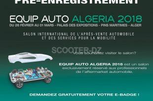 EQUIP AUTO ALGERIA 2018 : du 26 février au 01 mars - SAFEX Alger