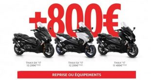 Tmax : Yamaha offre 800 € en reprise ou accessoires