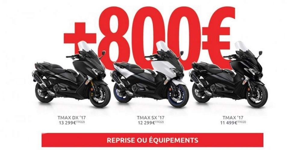 tmax yamaha offre 800 en reprise ou accessoires scooter dz. Black Bedroom Furniture Sets. Home Design Ideas