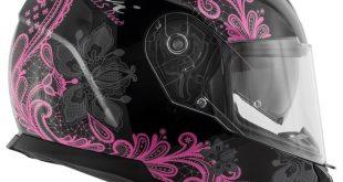 Givi 2018 : Casque intégral 50.5 Tridion déco rose et noir pour femme