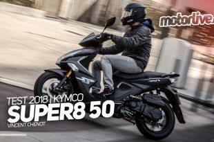 Nouveau Kymco Super 8 50 Euro4 : la vidéo est ligne sur Motorlive.tv