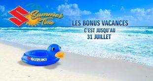 Promo Suzuki été 2018 : Bonus Vacances et jeu Summer Times !