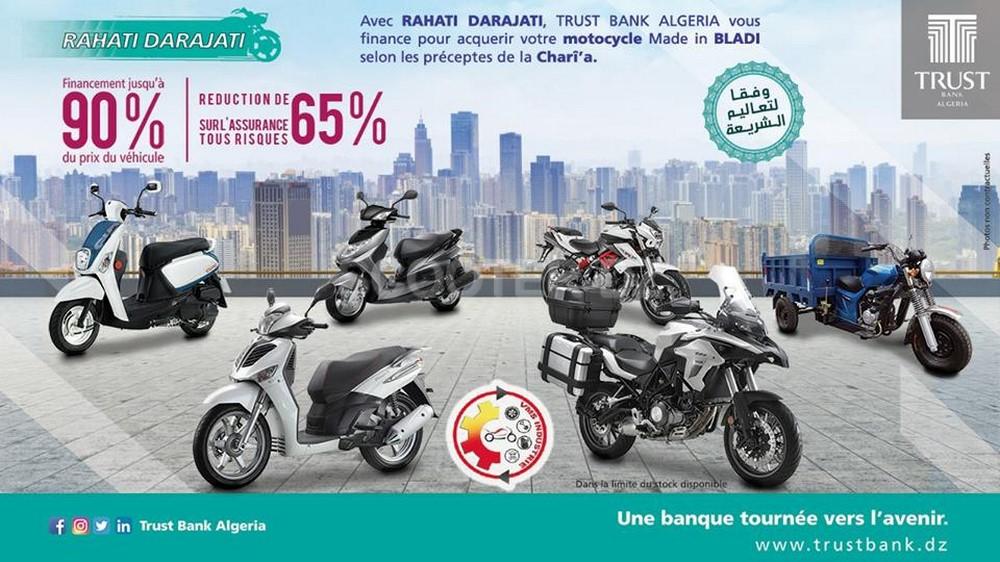 Trust Bank Algeria lance #Rahati_Daradjati pour l'acquisition d'un scooter !