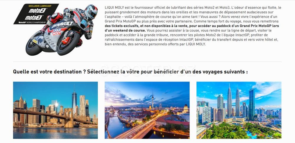 Gagnez de places pour les MOTO GP 2019 avec Liqui Moly Algeria