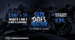 1 cm3 = 1€ - Chez Suzuki, la taille ça compte !