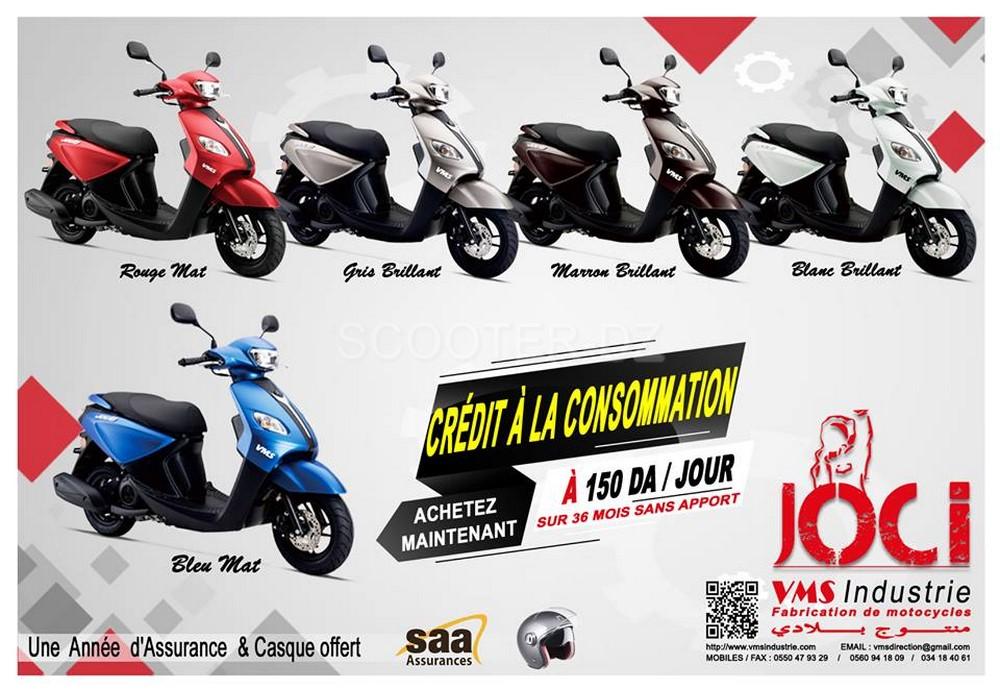 Crédit : VMS Cuxi 110 et Joc-i 125 à partir de 150 dinars par jour !