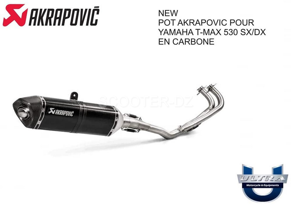 alg rie nouveau pot akrapovic tmax 530 sx dx est l scooter dz. Black Bedroom Furniture Sets. Home Design Ideas