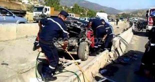 Accidents de la route : 17 personnes décédées et 1.242 autres blessées en une semaine