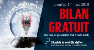 Suzuki : bilan moto gratuit et jeu concours