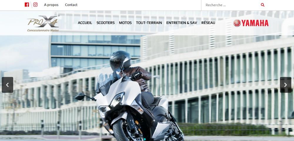 Yamaha Algérie : le site web de PROX4 fait peau neuve !