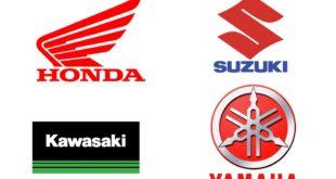 Honda, Kawasaki, Suzuki et Yamaha