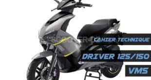 Publication du cahier technique du VMS DRIVER 125 / 150 cc