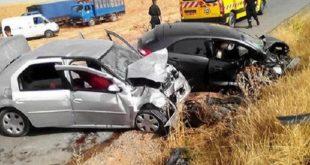 Accidents de la circulation : 39 décès et 1954 blessés en une semaine