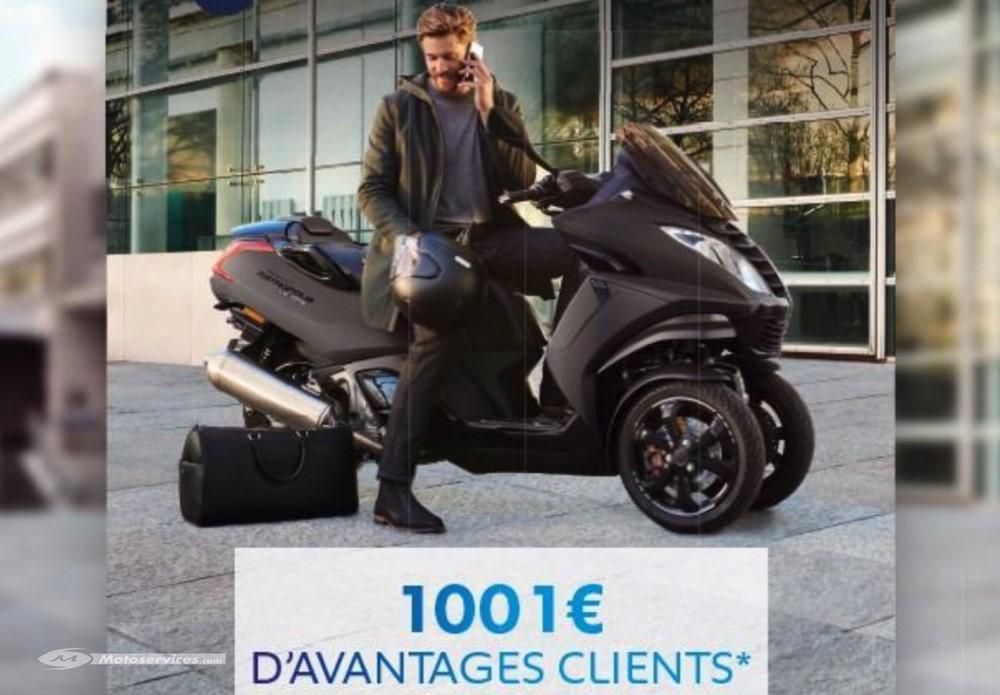 1001 euros d'avantage clients pour l'achat d'un Peugeot Metropolis