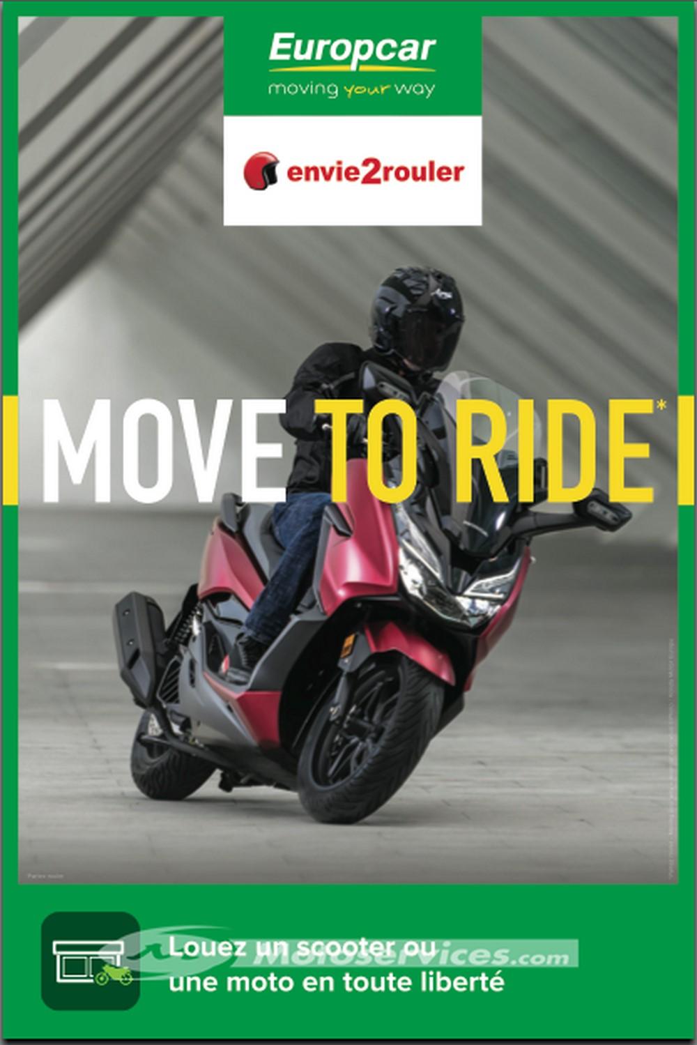 Location moto - scooter : envie2rouler et Europcar associés !