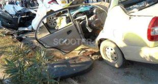 Accidents de la route : 7 morts et plus de 300 blessés en zones urbaines en une semaine