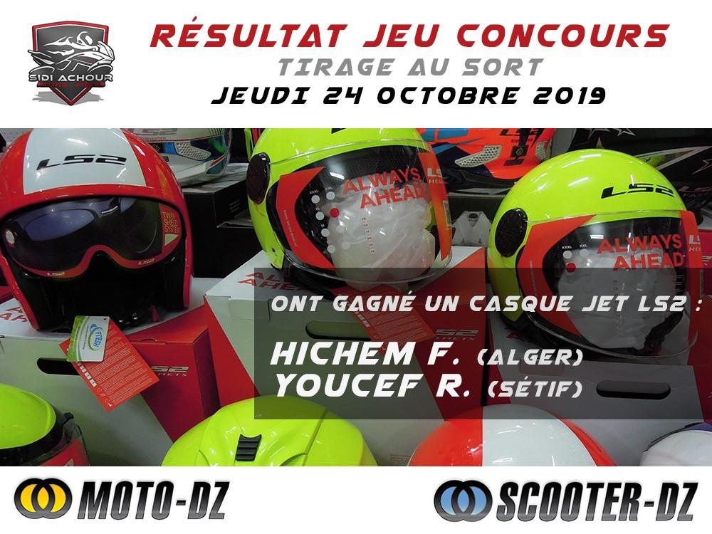 Les gagnants du Jeu Concours avec SCOOTER-DZ & SIDI ACHOUR MOTOS PIÈCES
