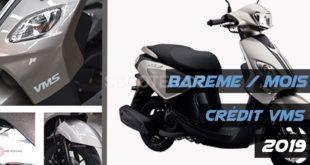 VMS Industrie : barème des mensualités des scooters vendus à crédit (Société Générale)