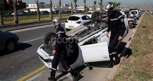 Accidents de la route : 25 morts et 1047 blessés en une semaine