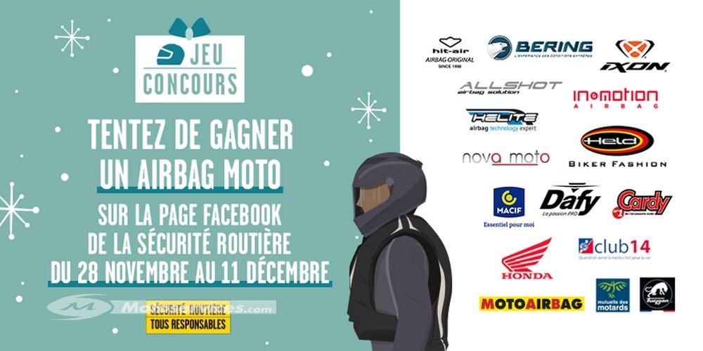 Jeu : un airbag moto à gagner avec la Sécurité routière
