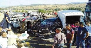 Accidents de la route en zones urbaines 14 décès et 337 blessés