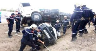 Accidents de la circulation : 45 décès et 1.494 blessés