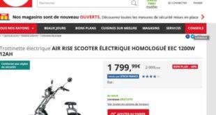 Darty vend des scooters électriques
