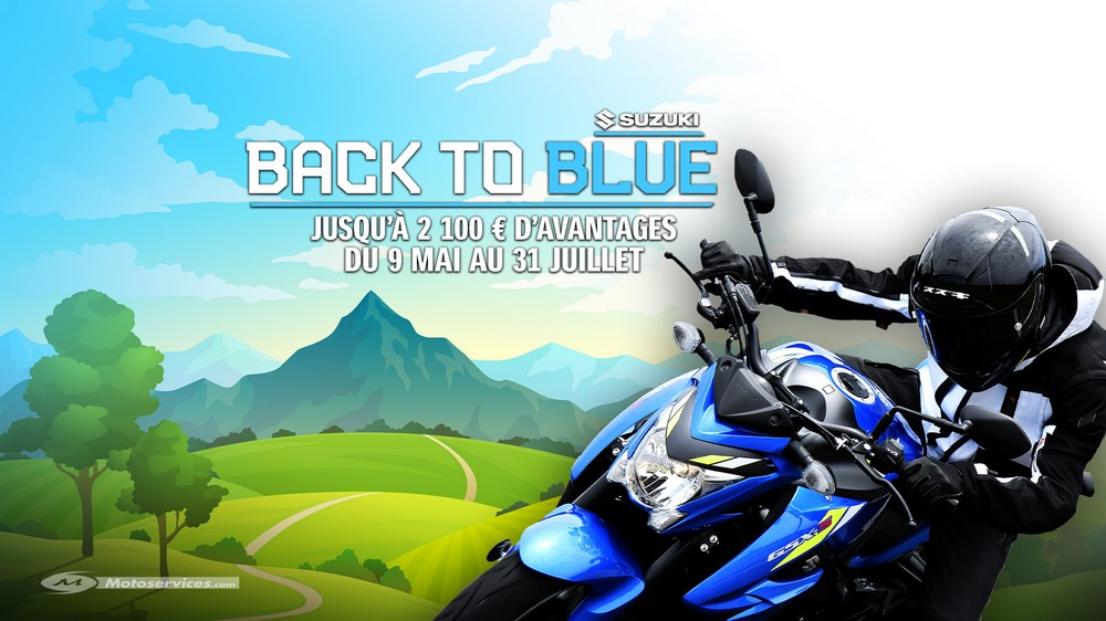 Suzuki : promos et offres spéciales Back to Blue