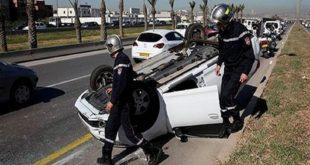 Accidents de la route : 20 décès et 1326 blessés en une semaine