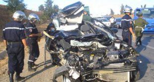 Accidents de la route : 13 morts et 286 blessés en une semaine en zones urbaines