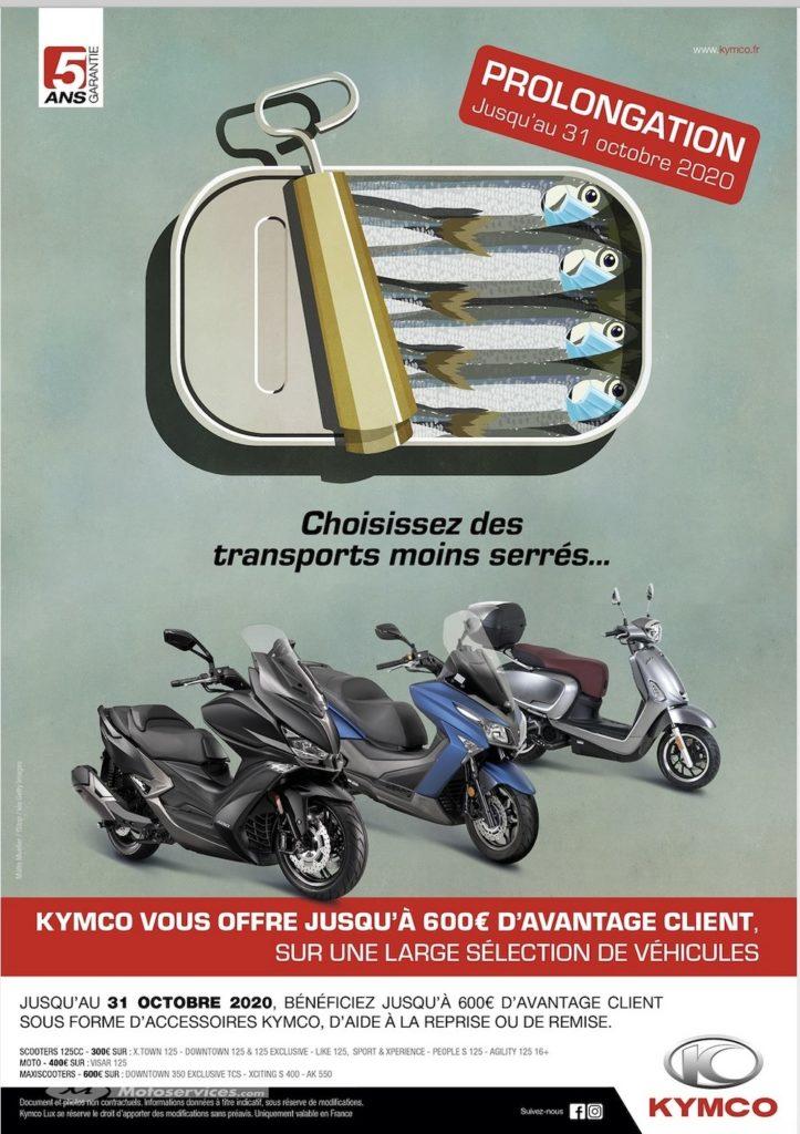 Aide à la mobilité individuelle : avantage client Kymco prolongé !